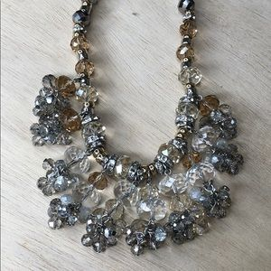 Talbots beaded statement necklace Crystal